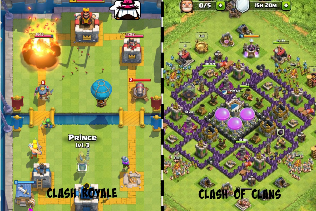 Clash Royale Vs Clash Of Clans Zakafadhullah